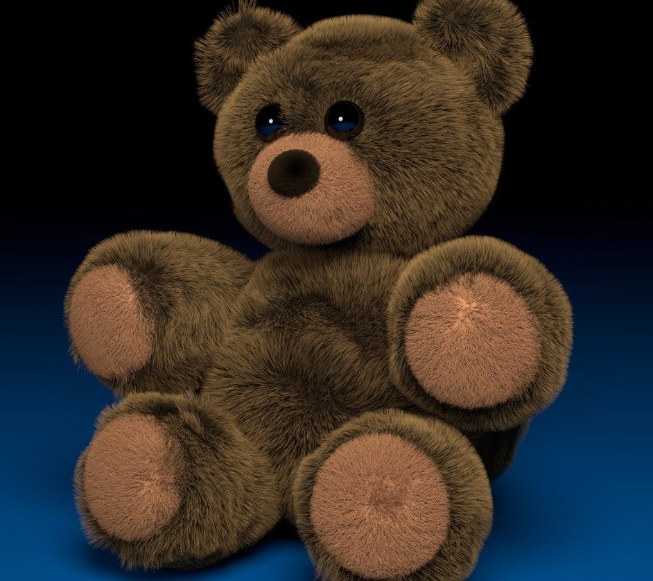 peluche bear Blender Render