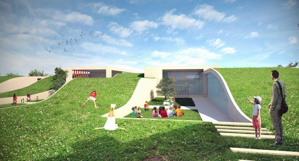 architettura con struttura ipogea
