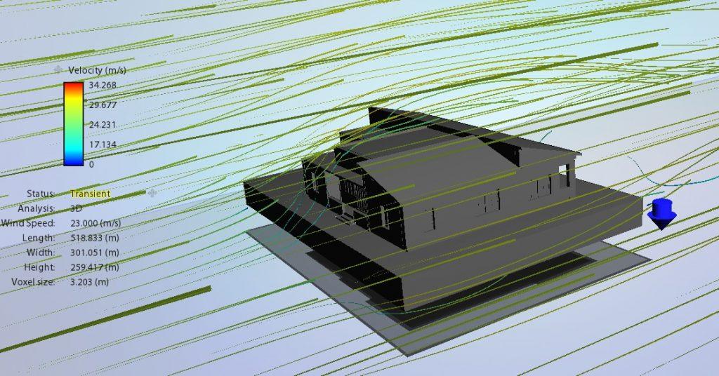 bioclimatica: ventilazione naturale con Wind simulator Revit Flow Design