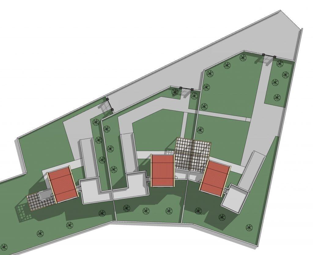Progetti di architettura e design: villini a schiera
