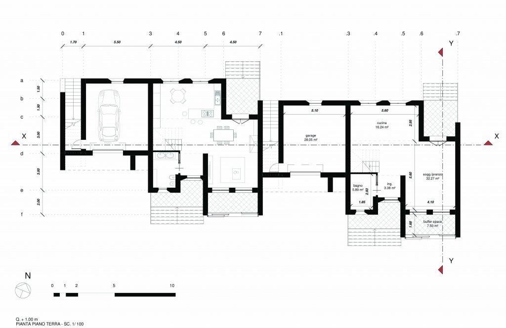 Casa in legno: pianta piano terra